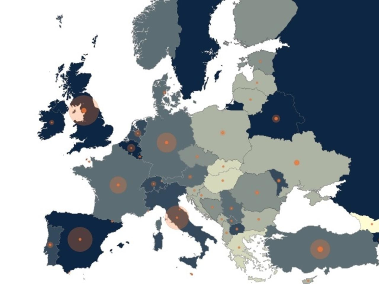 France Masque Blog carte européenne de la pandémie de COVID-19