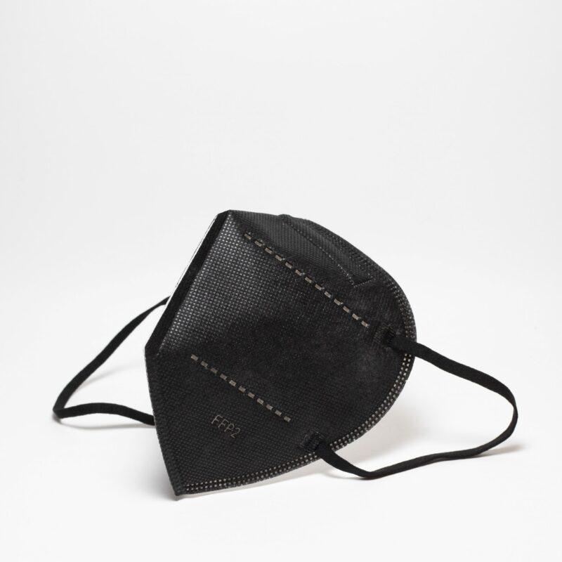 masque FFP2 Unir noir vu de trois quarts