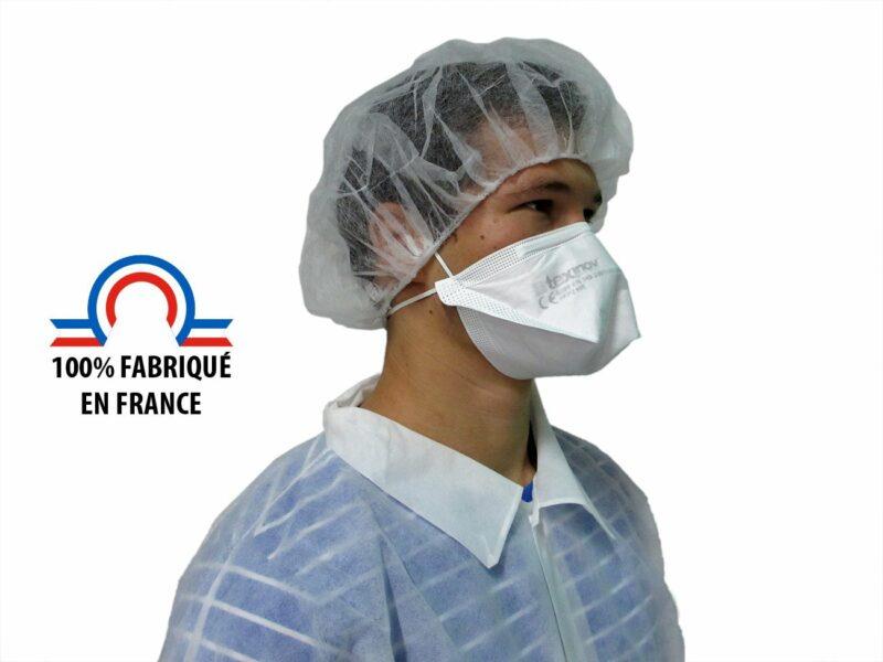 homme de profil portant un masque ffp2 Français TexiShield®
