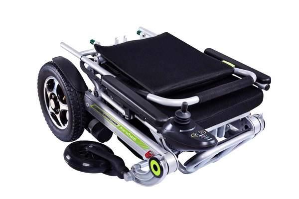 vue plié du fauteuil electrique