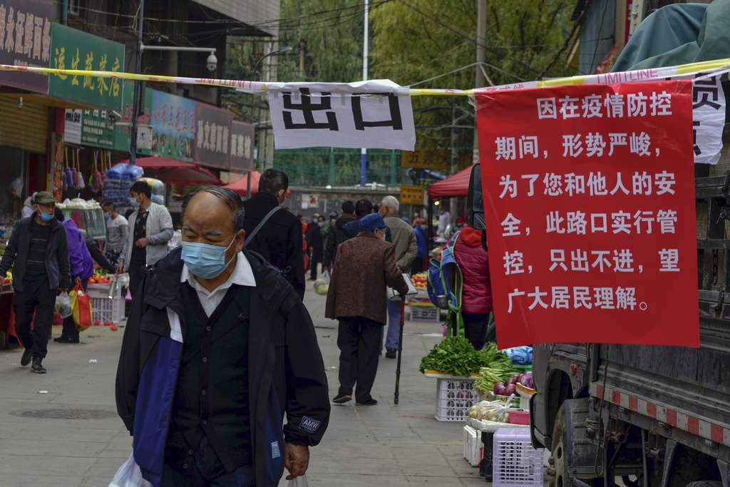 Coronavirus: la Chine confine une ville de 4 millions d'habitants le mardi 26/10/2021